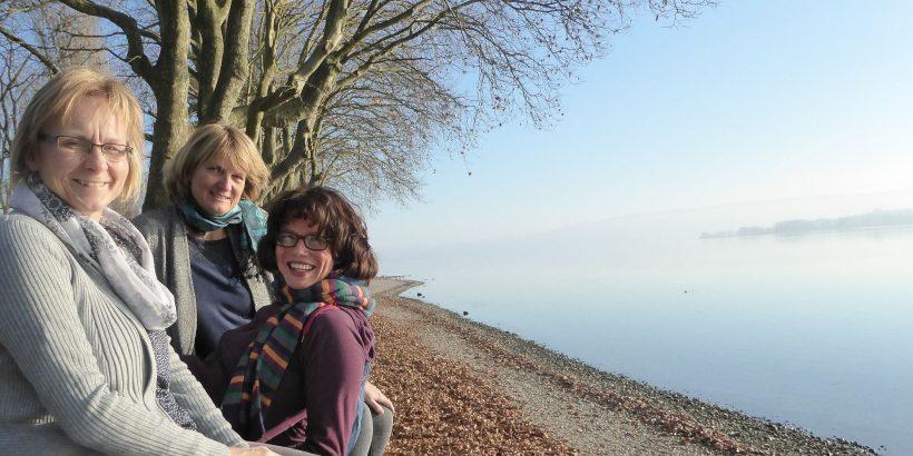 Ines Wittig, Sabrina Schulz und Astrid Hölzer vom RiverLinks Team der DUH am Bodensee